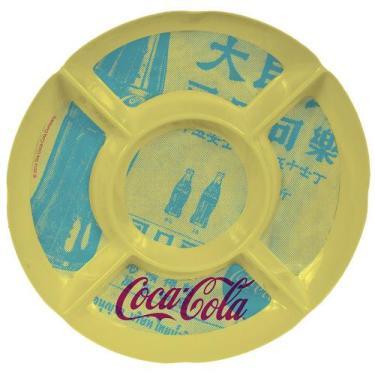 Imagem de Petisqueira coca cola melamine redonda newspaper amarela - Btc
