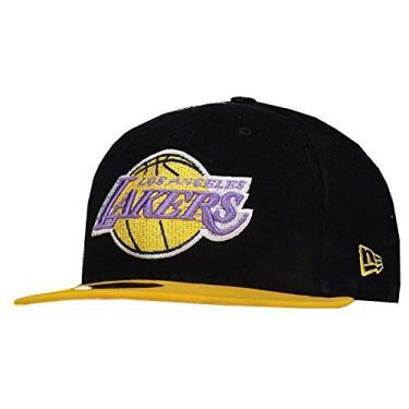 9dec836bcc44c BONE 5950 LOS ANGELES LAKERS NBA ABA RETA PRETO NEW ERA