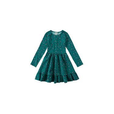 Vestido Infantil Feminino Florzinha Verde Malwee