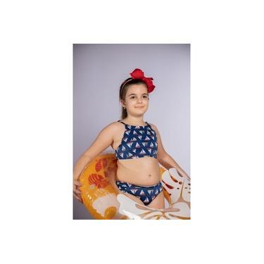 Biquíni Infantil Clarisssol Beachwear Cropped com Bojo