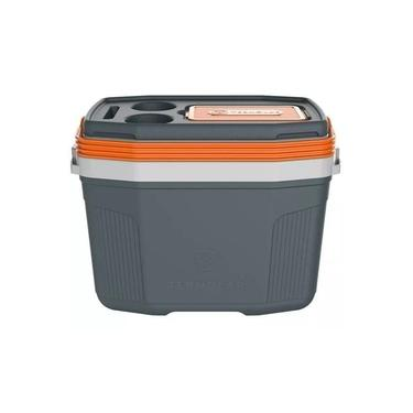 Imagem de Caixa Térmica Cooler Termolar SUV 20 Litros Cinza com Laranja