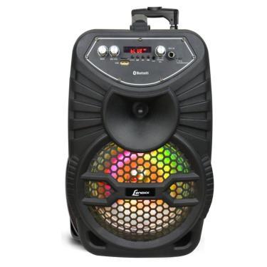 Caixa De Som Amplificada C/ Bateria Interna Lenoxx Bluetooth/Usb/Sd/P10/Aux Ca-100
