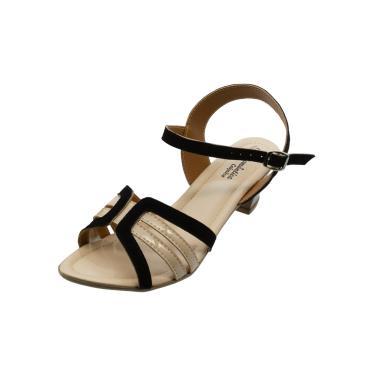 Sandália Romântica Calçados Num.Especial 40 Ao 44 Preto com Marfim  feminino