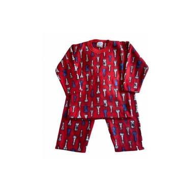 Pijama Infantil Soft Estampado Menino Vermelho