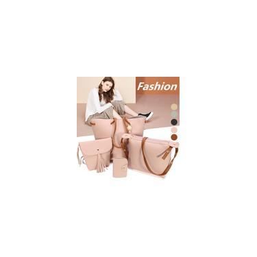 Imagem de 4 pcs bolsa de ombro feminina bolsa de ombro bolsa mensageiro bolsa tipo carteira