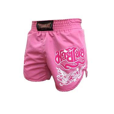 Calção Short Muay Thai - Feminino - Lady Pink Melt - Rosa - Toriuk
