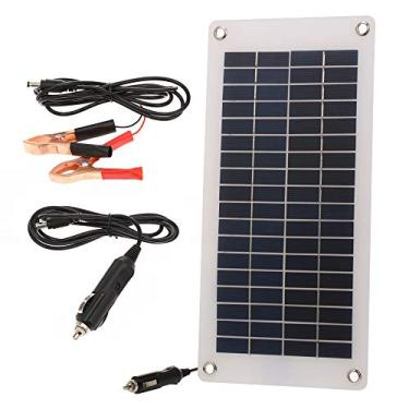 mewmewcat Carregador de bateria solar de 8,5 W/ 12V para carro com acendedor de cigarros Painel de energia solar portátil semiflexível Carregamento de gotejamento para motocicleta Barco Trailer