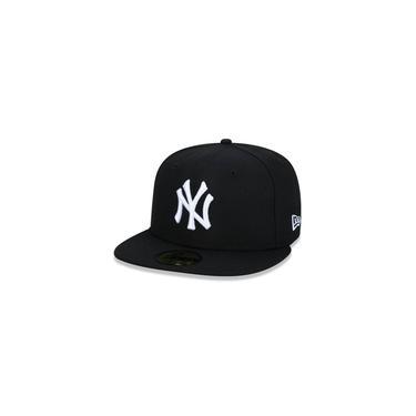 Bone 59fifty Aba Reta Fechado Mlb New York Yankees Basic Preto Aba Reta Preto New Era