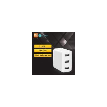 Xiaomi Mijia Power Adapter carregador USB 3 2A USB carregamento rápido eua plug mini portáteis parede carregador de viagem para o telefone portátil Notebook 15W 100-240V Branco