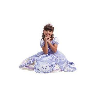 Imagem de Fantasia Super Luxo Da Princesa Sofia M - Multibrink