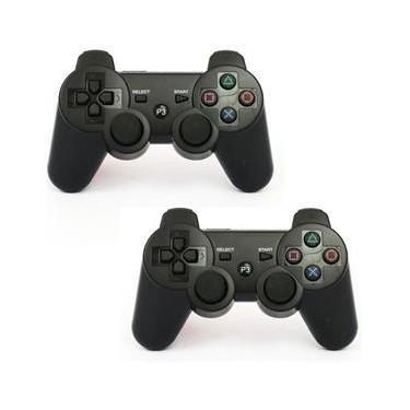 Par de Controles USB Com Fio Playstation 3 PS3 Joystick Windows RetroPie