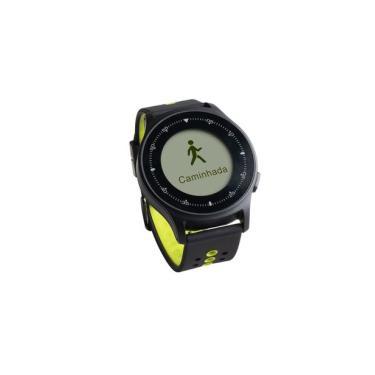 Monitor Cardíaco Sportwatch Chronus + GPS  à Prova D Água Preto Atrio - ES252 Atrio