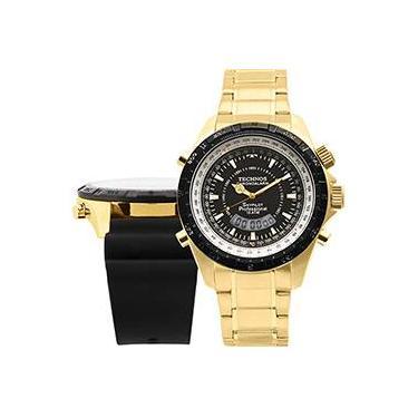 e1eac1e5bbefd Relógio Masculino Technos SkyDiver Troca Pulseira Anadigi T205FE 4P