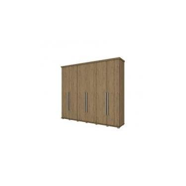 74329b885 Guarda Roupa Casal 6 Portas 6 Gavetas Studio Rústico - Henn