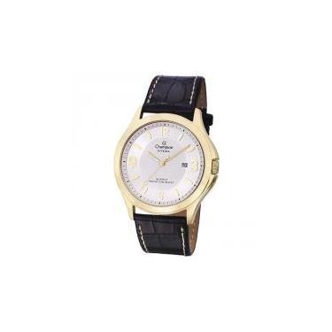 43eed56601e Relógio Champion Masculino Ref  Ca21222b Clássico Dourado