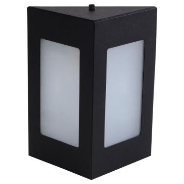 Arandela Triângular Luminária Externa Interna Parede Alumínio Preto - Rei da Iluminação
