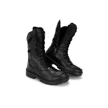 Bota Coturno Kilser Shoes Tática Militar Cano Alto Zíper Preto