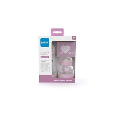 Imagem de Kit De Mamadeiras Easy Starter Set – Rosa (O Starter Set É Recomendado A Partir De 0 Meses De Idade). Auto Esterilizável Em 3 Minutos, Mam, Rosa