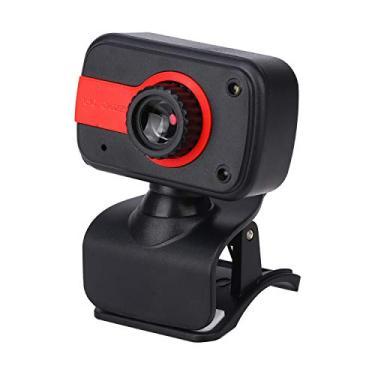 Webcam HD 1080p com microfone, Câmera USB para PC Desktop Laptop, Câmera Web para Estudo de Conferência, Gravação, Jogos (B, 52.5mm * 19mm)