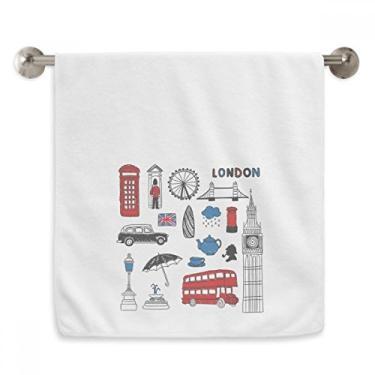 Imagem de DIYthinker London Big Ben Booth Rain Mailbox Toalha de mão Toalha de banho de algodão macio