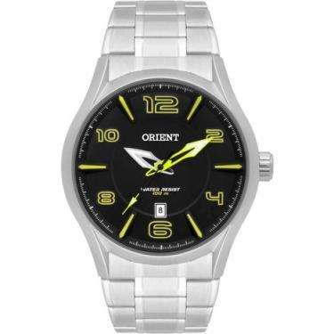 Relógio Masculino Orient MBSS1318 PYSX Prata af4a2604d4