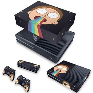 Capa Anti Poeira e Skin para Xbox One Fat - Morty Rick And Morty