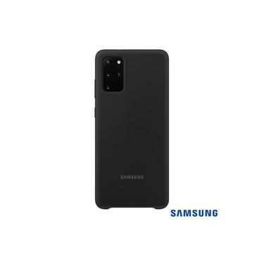 Capa Samsung Galaxy S20+ Plus Tela 6.7 Pol Silicone Cover Preto Aveludada Internamente