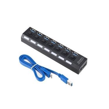 Hub Usb 7 Portas USB 3.0 Com Switch E Led Indicador Suporta 1TB LEY-199 Lehmox
