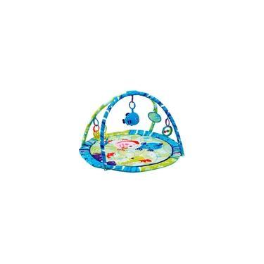 Imagem de Tapete Infantil Com Arco Bichos Do Mar Azul Mastela