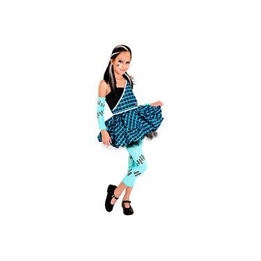 Imagem de Fantasia Infantil Monster High Frankie Feminina Preto e Azul - Sulamericana