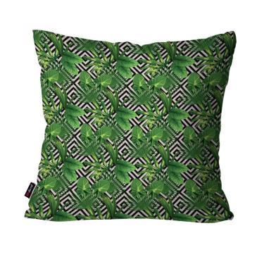 ae67fdb99 Capa de Almofada Decorativa Avulsa Verde Folhas Geométrico