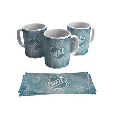 Caneca Hóquei No Gelo Nhl Logo Liga Usa