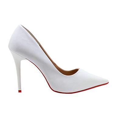Scarpin Royalz Verniz Sola Vermelha Penélope Branco