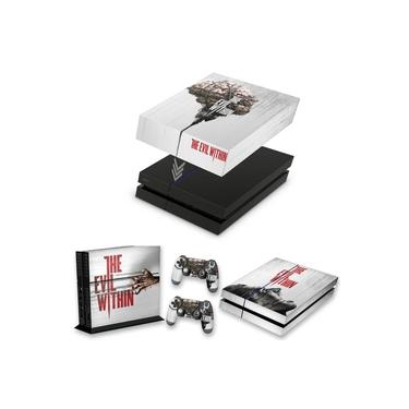 Capa Anti Poeira e Skin para PS4 Fat - The Evil Within