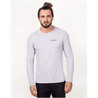 Imagem de Camisa UV Masculina com Proteção Solar Manga Longa Fresh (P, Cinza)