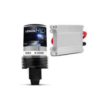 Kit Xênon Moto Completo 9005 HB3 8000K 35W 12V Lâmpada Tonalidade Azul e Reator Função Anti Flicker