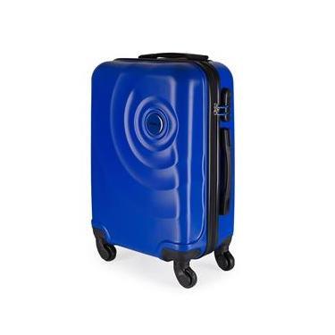 Mala de Bordo para Viagem em ABS Star Yins Cadeado Embutido Rodas Giro 360º Tam PP Azul