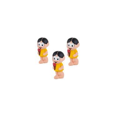 Imagem de Kit 3 brinquedo mordedor bebê super macio leve boneca magali turma da monica criança infantil latéx