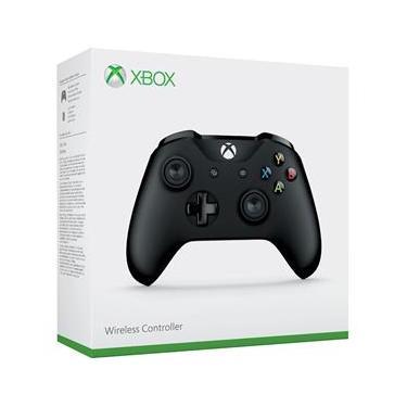 Controle Xbox One S Wireless Com Cabo Preto