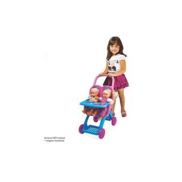Imagem de Carrinho De Boneca Infantil Rosa Princesas Disney Frozen