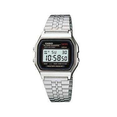 a8bb294f896 Relógio Feminino Digital Casio Vintage A159WA-N1DF - Prata
