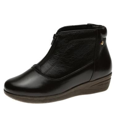 Bota Anabela Doctor Shoes 155 Café 155-CAFE-58-1042 feminino