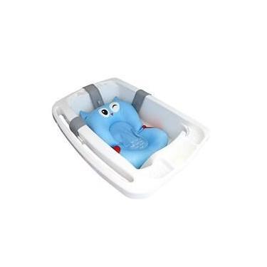 Almofada De Banho Soft Para Bebê Coruja Azul Kababy