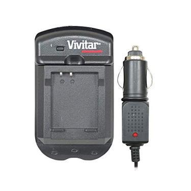Imagem de Carregador de Bateria para Câmera Panasonic com Carregador Veicular, Vivitar, Baterias