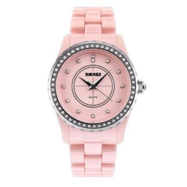 76d75358682 Relógio Skmei Analógico 1158 Rosa feminino