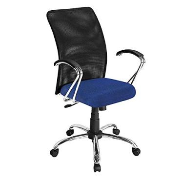 8207b6cfea11 Comprar · Cadeira para Escritório Mega Diretor Base Giratória Azul - Plata  Móveis