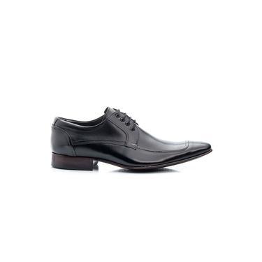 Sapato Social Masculino Cadarço Sola De Couro