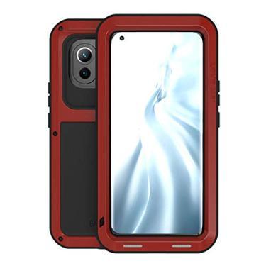 """Hicaseer Capa para Mi 11, à prova de neve e poeira de alumínio durável Gorilla capa de proteção total para Xiaomi Mi 11 7,8"""" - Vermelho"""
