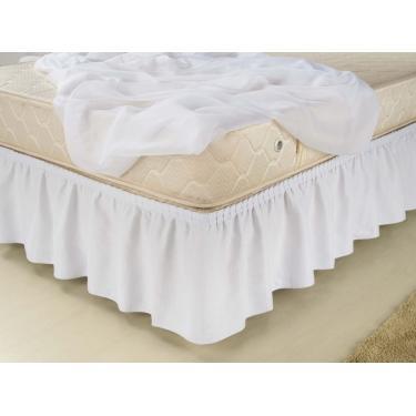 Imagem de Saia box modelo elasticada solteiro - branca PT