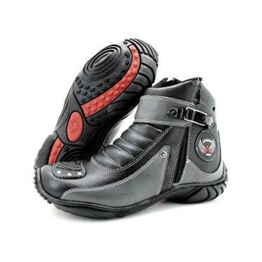Bota Atron Shoes 271 Preta/Cinza